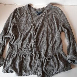 American Eagle cropped cardigan gray small